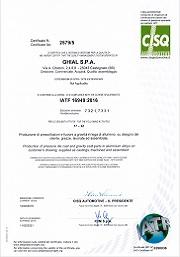 Certificato CISQ: IATF 16949:2016 nr 0290036