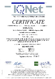 Certificato IQNet: ISO 9001:2015 nr IT-3617