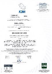 Certificato ICIM: UNI EN ISO 9001:2015 nr 0695/6